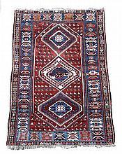 A small Caucasian rug,