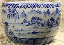 A massive Chinese 19th century porcelain bowl with