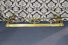 A French art noveau brass fire fender