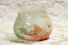 A fine large Venetian art glass vase with bubble