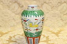 A good Chinese hand painted porcelain vase with