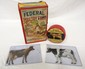 (2) Tin DeLaval cows, Dr. Hess Udder Ointment tin with cow, Federal Poultry Food box