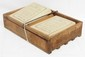 Wooden Star egg carrier with 2 trays - great stenciling
