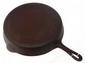 Cast iron Griswold #13 slant letter skillet with heat ring, lots of pitting