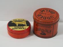(2) Udder Balm tins w/cow graphics