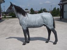Life size fiberglass horse