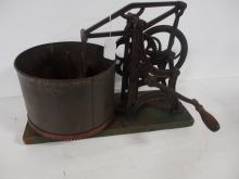 Cast iron hand crank slicer