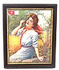 1902 Framed Deering Harvestors calendar top