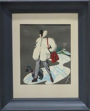 Decorative Arts: Chamonix Skiing prints (four)