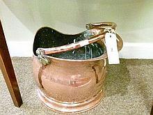 Copper coal helmet with swing handle