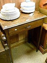 19th Century oak side table fitted one frieze drawer