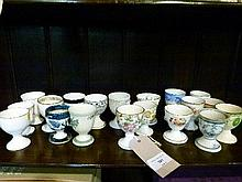 Collection of 19th/20th Century ceramic egg cups