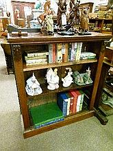 Victorian mahogany open bookcase fitted two shelves