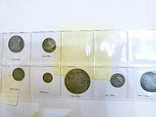Coins - Collection of seven silver coins, Charles II/ Queen Anne comprising: Halfcrown 1691, Shillings - c1696, 1709, 6d - 1708, 4d - 1681, 3d - 1689,