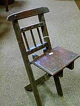 Early 20th Century oak folding child's chair