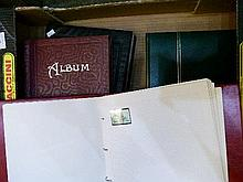 Stamps - Four albums containing various stamps, first day covers and postal history