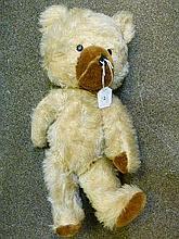 Mid-20th Century blonde plush teddy bear