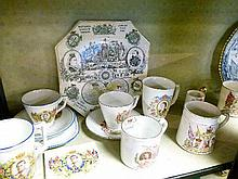 Collection of Royal commemorative ceramics - Queen Victoria to Queen Elizabeth II including; blue and white transfer printed plate commemorating Edwar