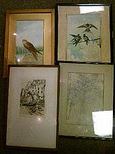 Quantity of framed prints, watercolours etc