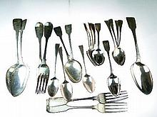 Quantity of various Georgian and other silver cutlery, combined weight 23oz approx