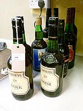 Wines and spirits - Nine various bottles of Sherry