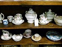 Collection of mainly English 18th and 19th Century ceramics including; tea bowls etc
