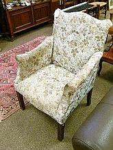 Early 20th Century mahogany upholstered armchair