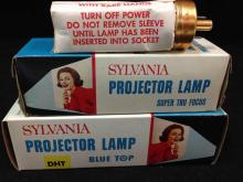 Lot of (2) Sylvania Projector Lamps in original boxes