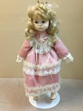 Vintage Mann Collectible Handmade Porcelain Doll.#383