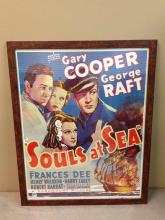 Retro Movie Poster Souls at Sea Gary Cooper George Raft