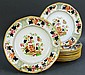 ADAMS TUNSTALL GAUDY DECORATED CERAMIC PLATES.