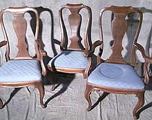 SET OF 8 ITALIAN PROVINCIAL STYLE SPLAT DINING CHAIRS.  Including two armchairs