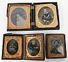 FOUR TINTYPES OF CHILDREN. Ca. 1870. With lots of