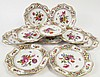 SET OF 10 DRESDEN HANDPAINTED DESSERT OR LUNCHEON