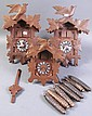 THREE VINTAGE CUCKOO CLOCKS.