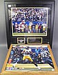 TWO FRAMED AND SIGNED SUPER BOWL PHOTOS. Including