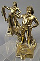 BRONZE PLATED FISHERMAN BOOKENDS. New England cod