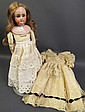 A GOOD GERMAN BISQUE SHOULDER HEAD DOLL. With