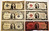 THREE U.S. $1 SILVER CERTIFICATES.  Series 1928 and 1957 with a