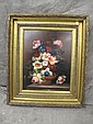 CLASSICAL FLORAL STILL LIFE. Oil on canvas. In the