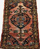 ANTIQUE PERSIAN HAMADAN ORIENTAL THROW RUG.  Approx. 2'6