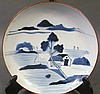 CHINESE UNDERGLAZE BLUE PLATE.  With six stilt marks and dryfoot.  Modern.  11 1/4