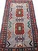 PERSIAN BALOUCH ORIENTAL RUG. Deep modern colors