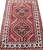 PERSIAN SHIRAZ ORIENTAL RUG. (Note: clean, sound