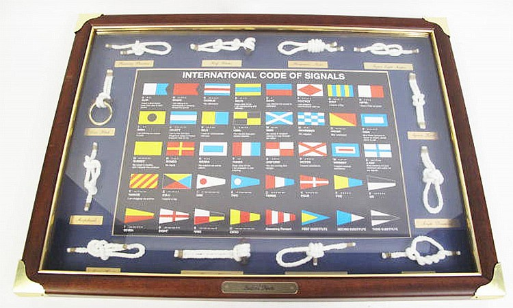 TWO NAUTICAL FRAMED SHADOW BOXES. Consisting of