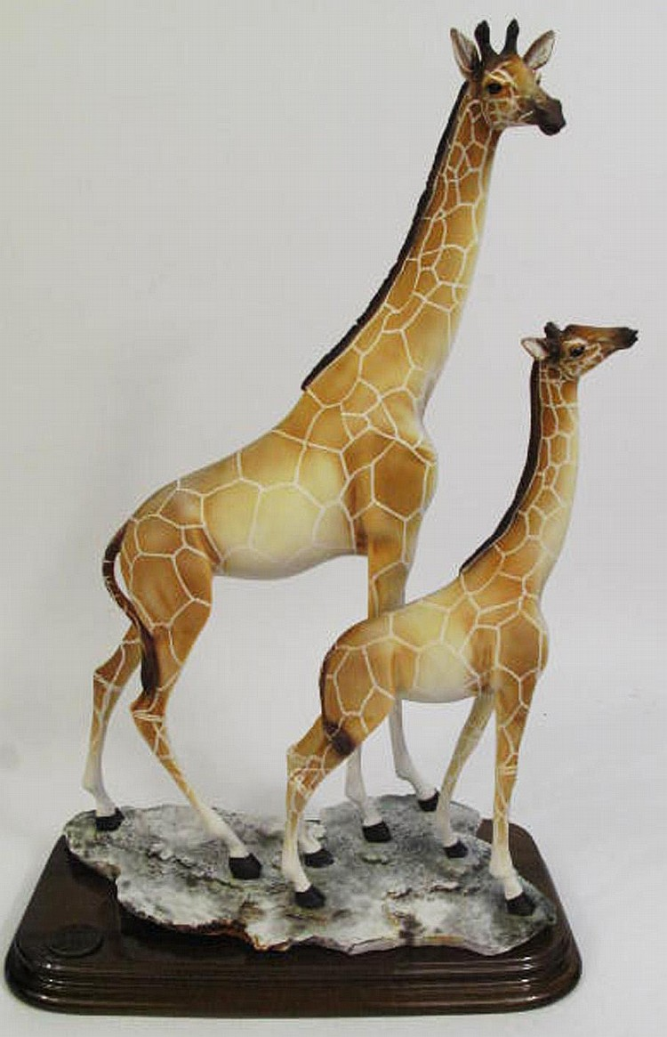 ITALIAN GIRAFFE SCULPTURE. By Auro Belcari. For
