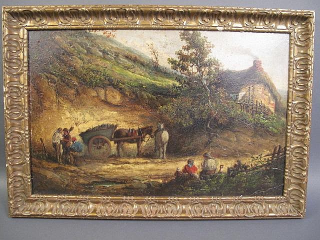 ENGLISH SCHOOL OIL PAINTING. 19th/20th century.