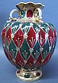 JAPANESE SATSUMA PORCELAIN GLOBE VASE. With