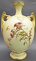 ROYAL WORCESTER VASE. Satin finish with painted