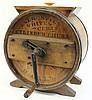 THREE GALLON CYLINDER CHURN. With wood